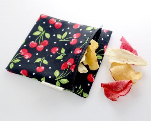 Ici et La Creations snack bags red cherries