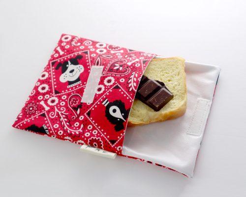 Ici et La Creations snack bags red bandana