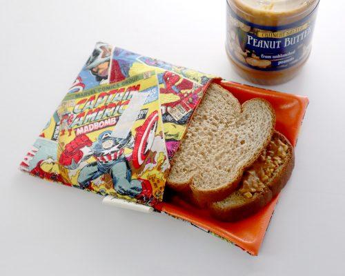 Ici et La Creations snack bags super heros
