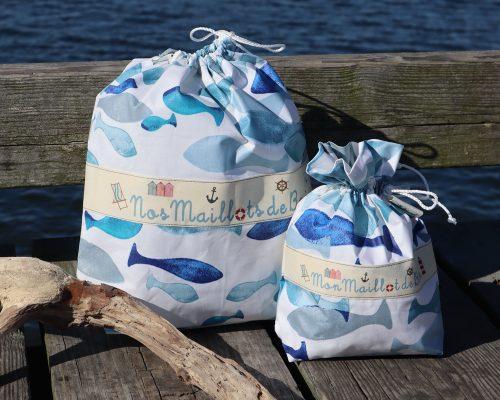 Ici et La Creations swimsuit bags