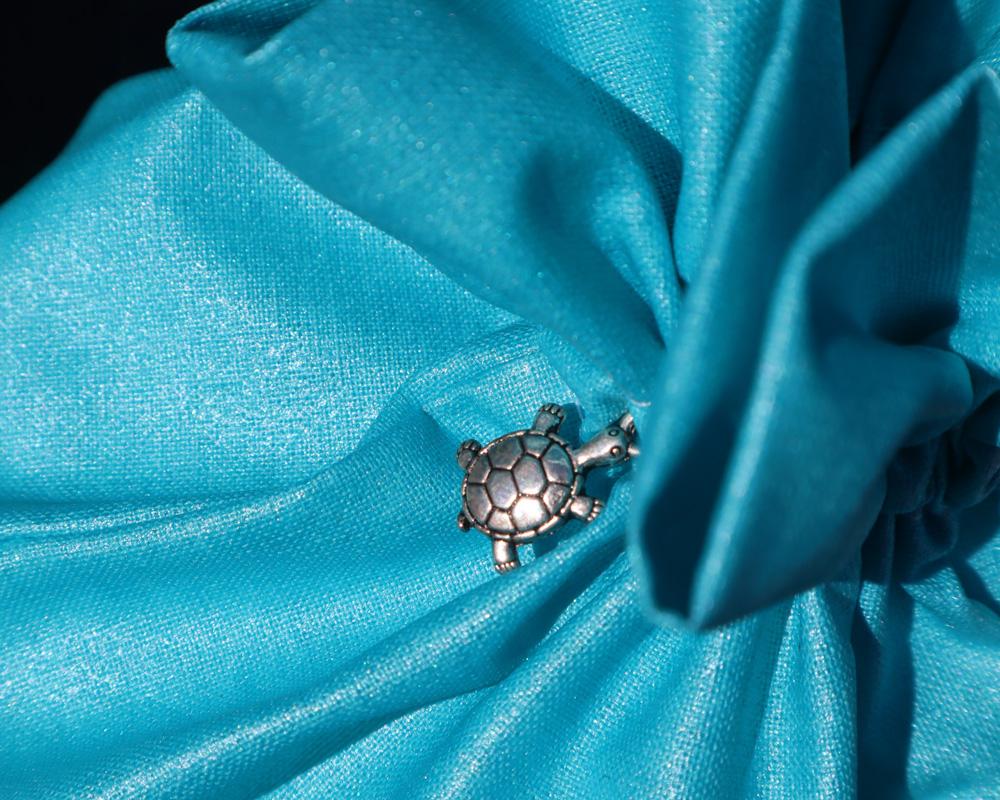 Ici et La Creations swimsuit bags turquoise