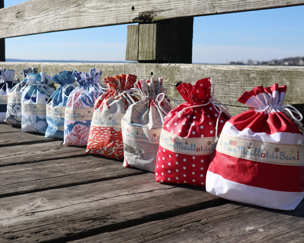 ici et la creations swimbags in a row