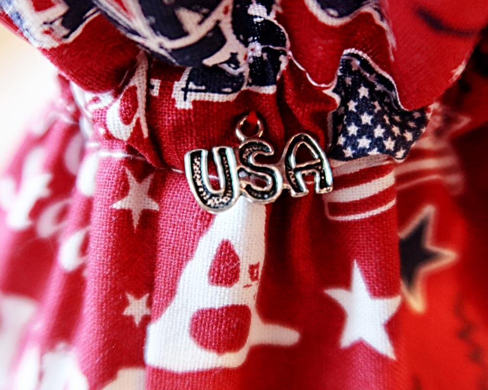 Ici et La Creations - Mon Bazar - Red USA flag