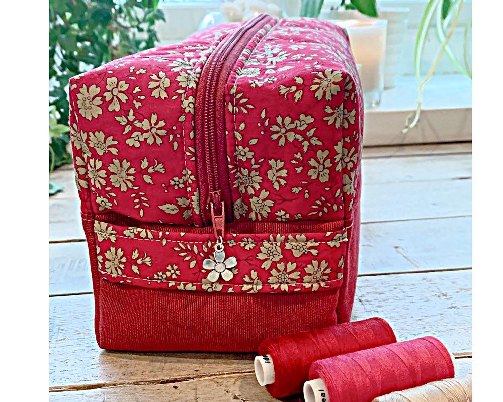 Ici et La Creations - Liberty Toiletry Bags - Liberty-Capel-red
