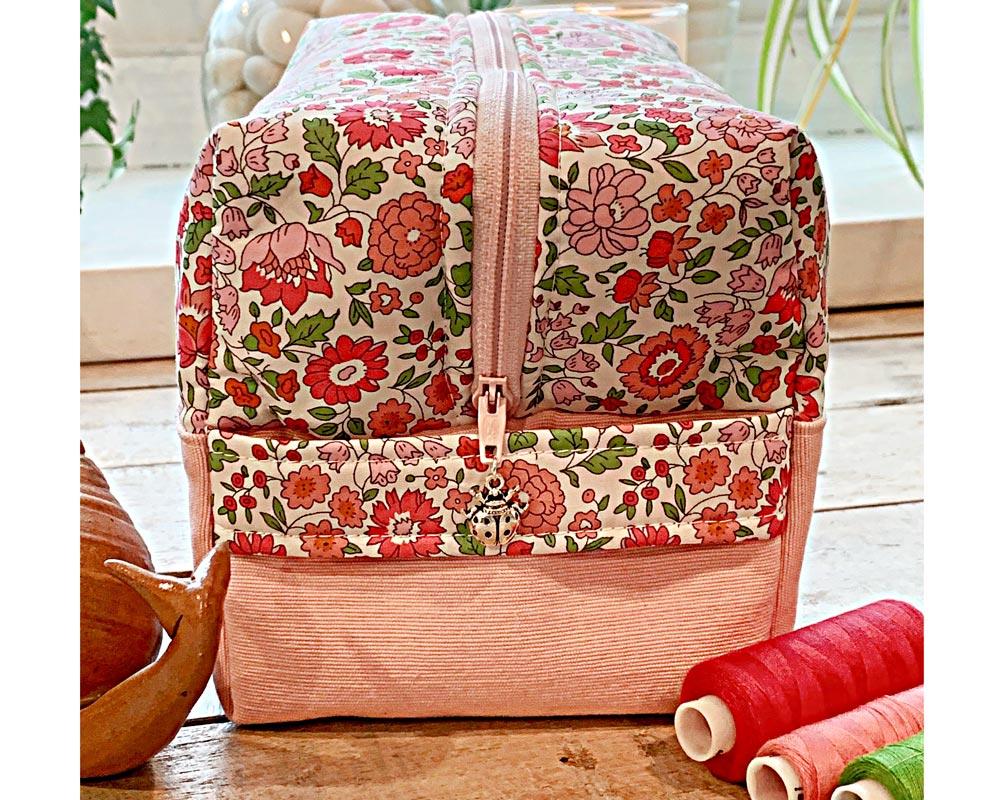 Ici et La Creations - Liberty Toiletry Bags - Liberty DAnjo pink
